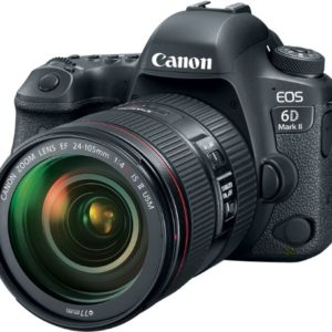 Canon EOS 6D Mark II 26.2MP Full-Frame Digital SLR Camera with 24-105mm IS II USM Lens