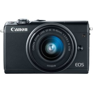 Canon EOS M100 24.2MP Mirrorless Digital Camera with EF-M 15-45mm IS STM Lens (Black)