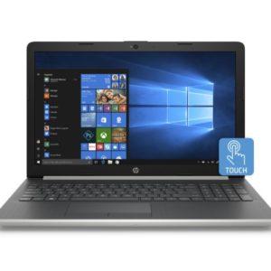 HP 15 Silver Fusion Laptop 15.6' Touchscreen, Intel Core i3-8130U, Intel UHD Graphics 620, 1TB HDD + 16GB Intel Optane memory, 4GB SDRAM, DVD, 15-da0033wm