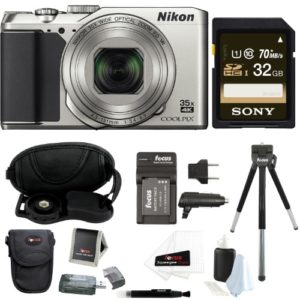 Nikon Coolpix A900 Digital Camera (Silver) w/ 32GB Memory Card Bundle