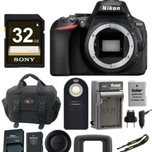 Nikon D5600 24.2MP DX-Format DSLR Camera (Body Only) with 32GB Card and Bundle
