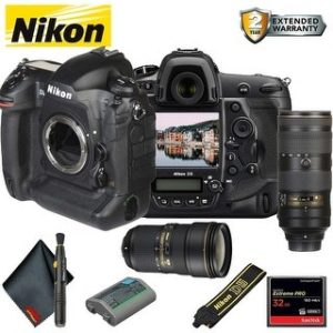 Nikon D5 DSLR Camera (Body Only, Dual CF Slots) (Intl Model) Bundle (Advanced)