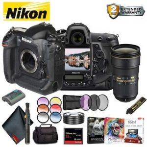 Nikon D5 DSLR Camera (Body Only, Dual CF Slots) (Intl Model) Bundle (Standard)