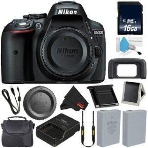 Nikon D5300 Digital Camera Body (International Model) + Deluxe Cleaning Kit + MicroFiber Cloth Bundle (standard)