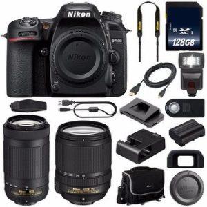 Nikon D7500 DSLR Camera with 18-140mm Lens (International Model) (18-140 & 70-300)