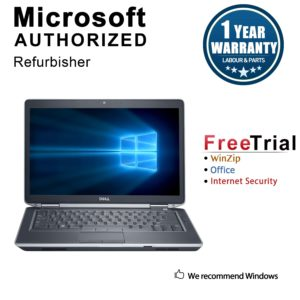 "Refurbished Dell Latitude E6430 14.0"" Laptop Intel Core i5 3320M 2.6G 16G DDR3 1TB DVD Win 10 Pro 1 Year Warranty - Black"
