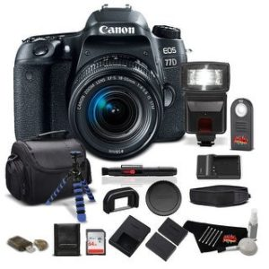 Canon EOS 77D DSLR Bundle (Intl Model) (professional - with 18-55mm lens)