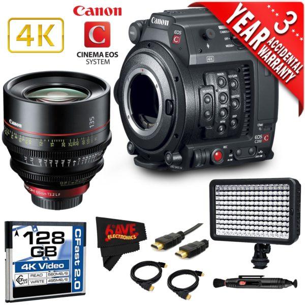 Canon EOS C200 Cinema Camera Intl Model with Canon 85mm Cine Lens (base)