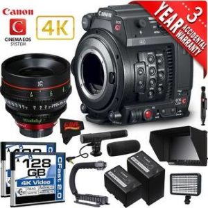 Canon EOS C200 Cinema Camera Intl Version with Canon 35mm Cine Lens (professional)