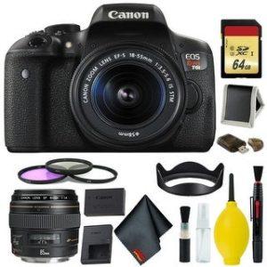 Canon EOS Rebel T6i DSLR Camera + 18-55mm + EF 85mm Lens (Intl Model) (Complete Kit)