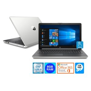 "HP 15.6"" Touch WLED Laptop Intel i5-8250U 8GB 1TB HDD Office 365 (Refurbished)"