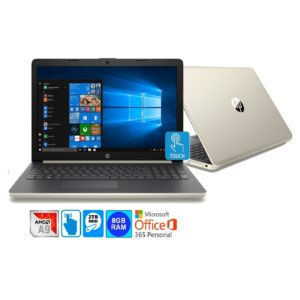 """HP 15.6"""" WLED HD Touch Screen Laptop AMD A9-9425 2TB HDD 8GB & Office 365 (Refurbished)"""