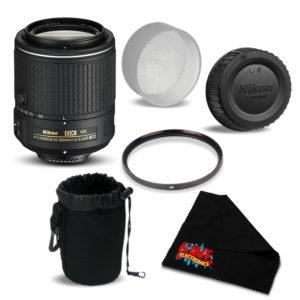 Nikon AF-S DX NIKKOR 55-200mm f/4-5.6G ED VR II Lens 20050 Bundle- International Version (No Warranty) (essential)