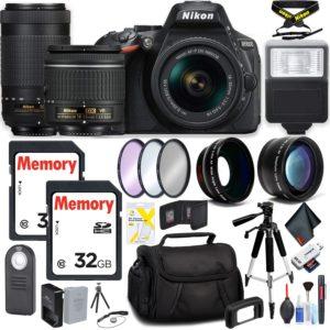 Nikon D5600 DSLR Camera with 18-55mm Lens and Nikon 70-300mm Lens Kit
