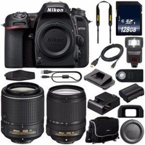 Nikon D7500 DSLR Camera with 18-140mm Lens (International Model) (18-140 & 55-200)
