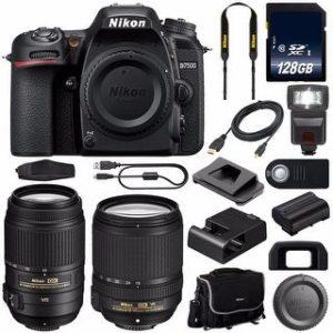 Nikon D7500 DSLR Camera with 18-140mm Lens (International Model) (18-140 & 55-300)