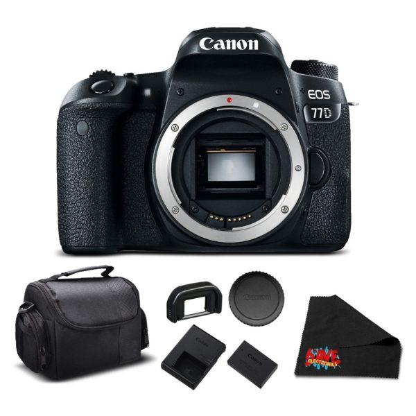 Canon EOS 77D DSLR Bundle (Intl Model) (essential - body only)