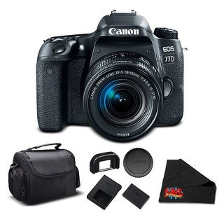 Canon EOS 77D DSLR Bundle (Intl Model) (essential - with 18-55mm lens)