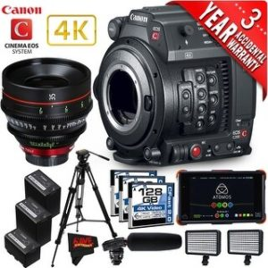 Canon EOS C200 Cinema Camera Intl Version with Canon 35mm Cine Lens (advanced)