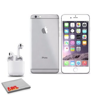 Apple IPhone 6S 16GB Silver (MKQK2LLA) (with AirPods Wireless Bluetooth Earphones)