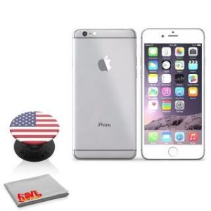 Apple IPhone 6S 16GB Silver (MKQK2LLA) (with American Flag Popsocket)