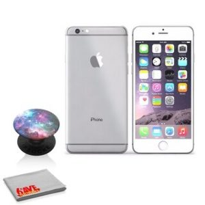 Apple IPhone 6S 16GB Silver (MKQK2LLA) (with Blue Nebula Popsocket)