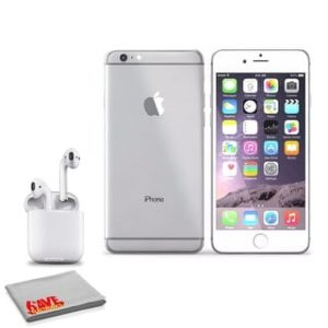 Apple IPhone 6S 16GB Silver (MKQK2LZA) (with AirPods Wireless Bluetooth Earphones)