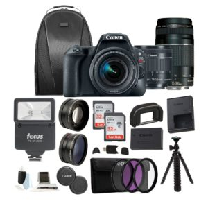 Canon EOS Rebel SL2 DSLR Camera w/ 18-55mm & 75-300mm Lenses Bundle