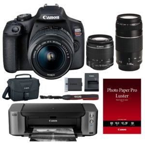 Canon EOS T7 DSLR Camera with 18-55mm &75-300mm Lens Kit