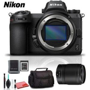 Nikon Z 7 Mirrorless Digital Camera (Intl Model) (Platinum Kit)