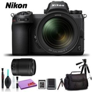 Nikon Z 7 Mirrorless Digital Camera with 24-70mm Lens (Intl Model) (Deluxe Kit)