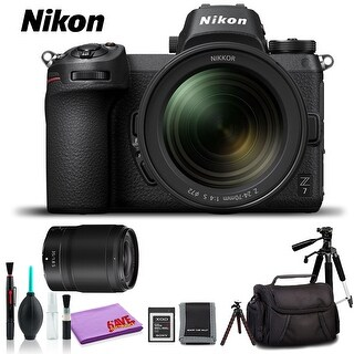 Nikon Z 7 Mirrorless Digital Camera with 24-70mm Lens (Intl Model) (Deluxe Kit)