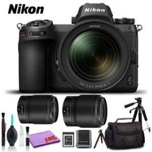 Nikon Z 7 Mirrorless Digital Camera with 24-70mm Lens (Intl Model) (Platinum Kit)