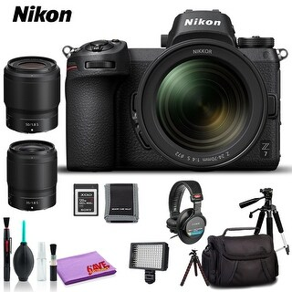 Nikon Z 7 Mirrorless Digital Camera with 24-70mm Lens (Intl Model) (Premium Kit)